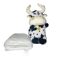 Мягкая игрушка Бычок 3 в 1 (игрушка, подушка, плед)